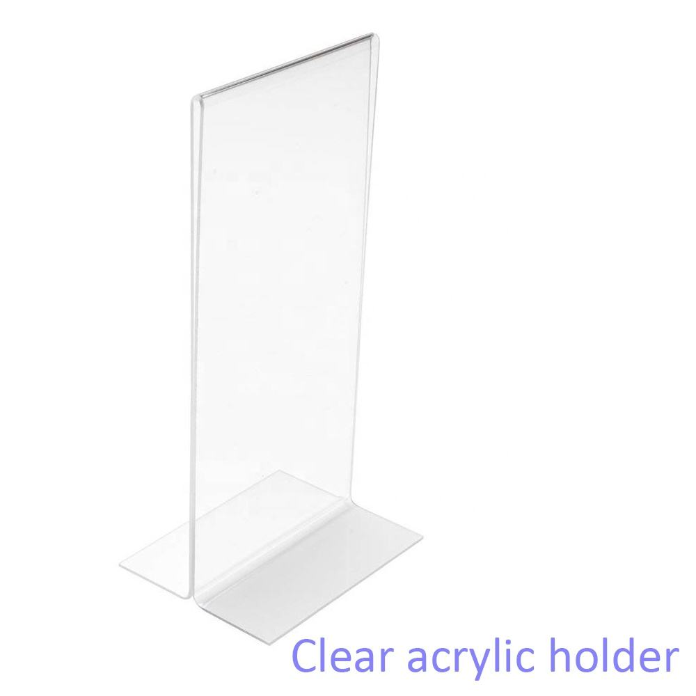 Menu Holder [ Menu ] Desk-top Menu Holder Acrylic Frame Picture Board 8.5 X 11 Inch Double Sided