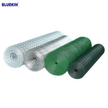 "1"" x 2"" pvc coated hot galvanized welded iron wire mesh for fencing"