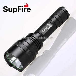 wholesale SupFire C8-T6 rechargeable flashlight 1100lumen 10w, waterproof police led torch light