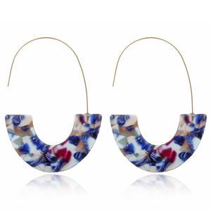 Europe Top Selling U Shape Fashion Earrings Accept Small Quantity Order New Acrylic Leopard Earrings 2020 Women Jewelry