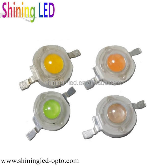 Customize Colors Purple Golden Cyan-blue Pink Yellow Amber Orange 1W 2W 3W High Power LED