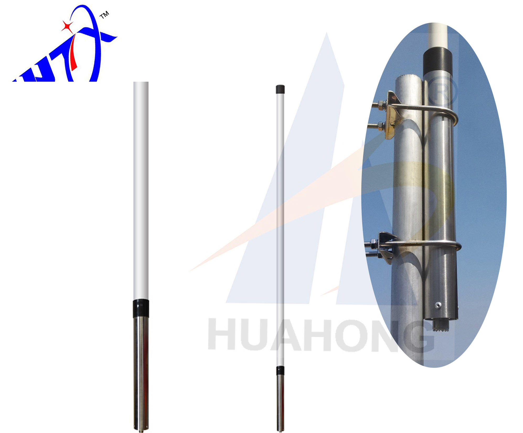 Hot sale! omni-directional 2m 450mhz 8dbi polar mounting antenna 2m 70cm