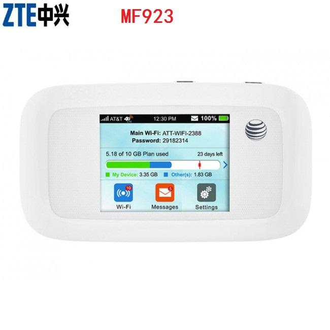Sbloccato ZTE MF923 (AT & <span class=keywords><strong>T</strong></span> Velocità) <span class=keywords><strong>4G</strong></span> LTE <span class=keywords><strong>Mobile</strong></span> <span class=keywords><strong>Hotspot</strong></span> (Sbloccato router wifi <span class=keywords><strong>hotspot</strong></span> supporto FDD 700/850/AWS/1900Mhz