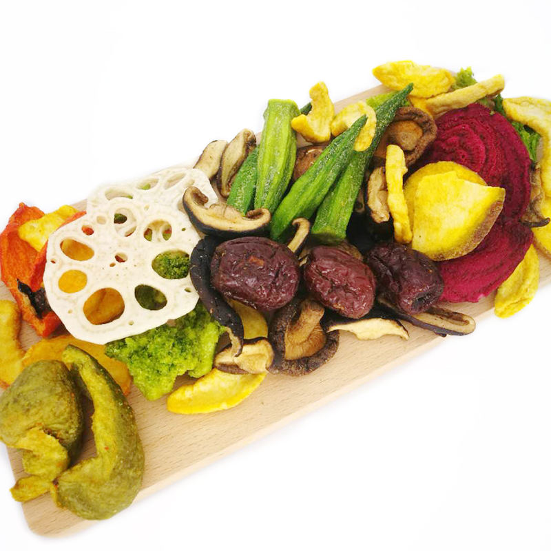 Low temperature raw vegetables snacks vacuum fried vegetable chips