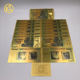2000pcs/lot Zimbabwe One Hundred Trillion Dollars Gold Plated Banknote With 999999 Gold by fedex tnt or UPS