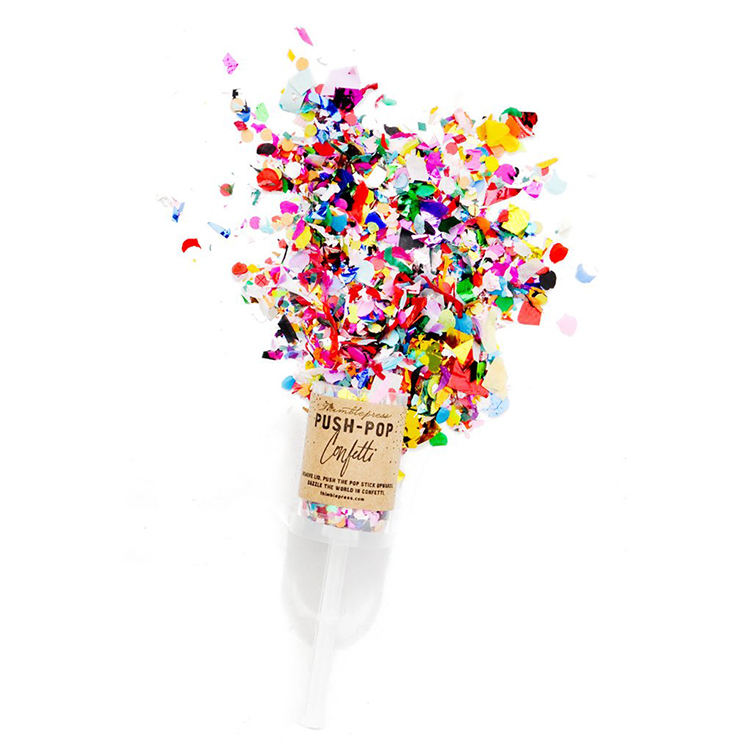 Hot selling wholesale biodegradable paper push confetti poppers cannon