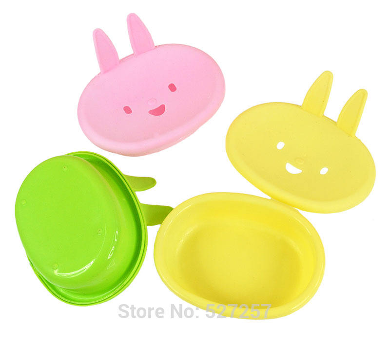 Wholesale Plastic Soap Dish Holder Cute Rabbit Animal Soap Case Packaging Bathroom Supplies Accessory