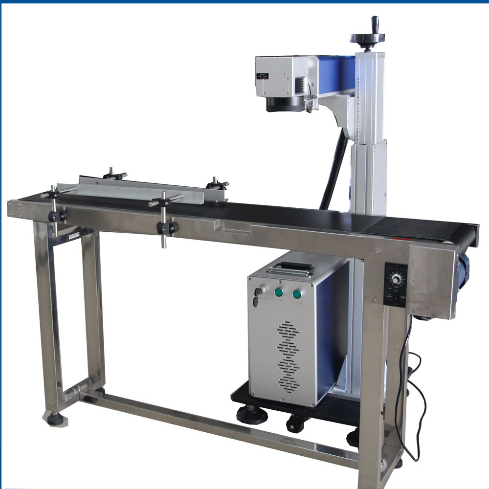 Top Quality Online Flying America Synrad Co2 10W 20W 30W 50W 60W Laser Marking Machine For Pet Plastic Bottle Online Production