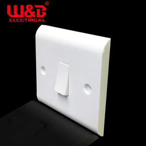 British Standard Wall Switch dan Socket 1 Gang 2 Arah Listrik Switched Socket
