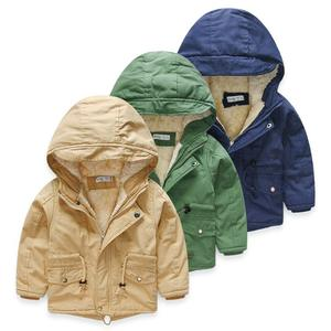 W1417 2016 Spring Autumn Boys Jacket Outwear Cotton Kids Children Teenage Winter Coat Child Fashion Zipper Hooded Clothes
