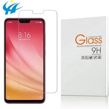 factory sales directly wholesale price tempered glass for xiaomi mi8 2.5d silk printing screen protector for xiaomi 8