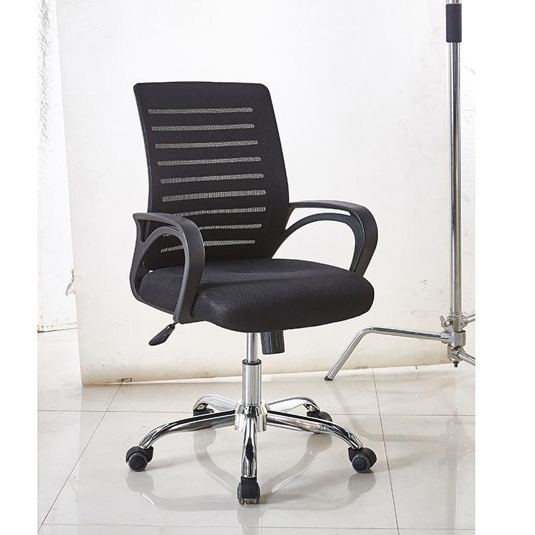 Bas prix exécutif maille pivotante à <span class=keywords><strong>platine</strong></span> noir chaise de bureau avec bras pp