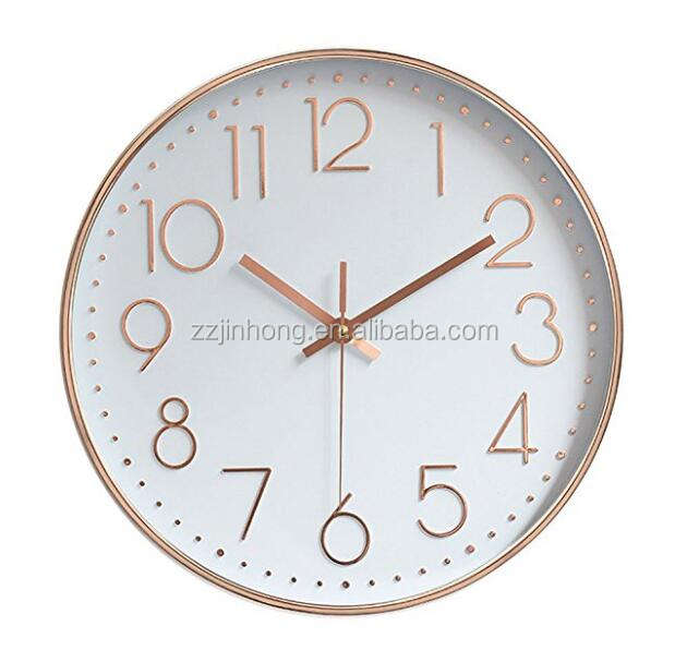 Fashion Promotion 12 inch round wall clock numbers for home decor