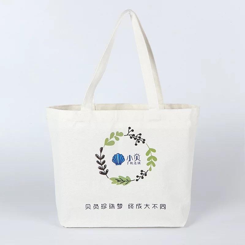 Customized Sublimation Pattern Eco Foldable Female Hand Cotton Tote Bags