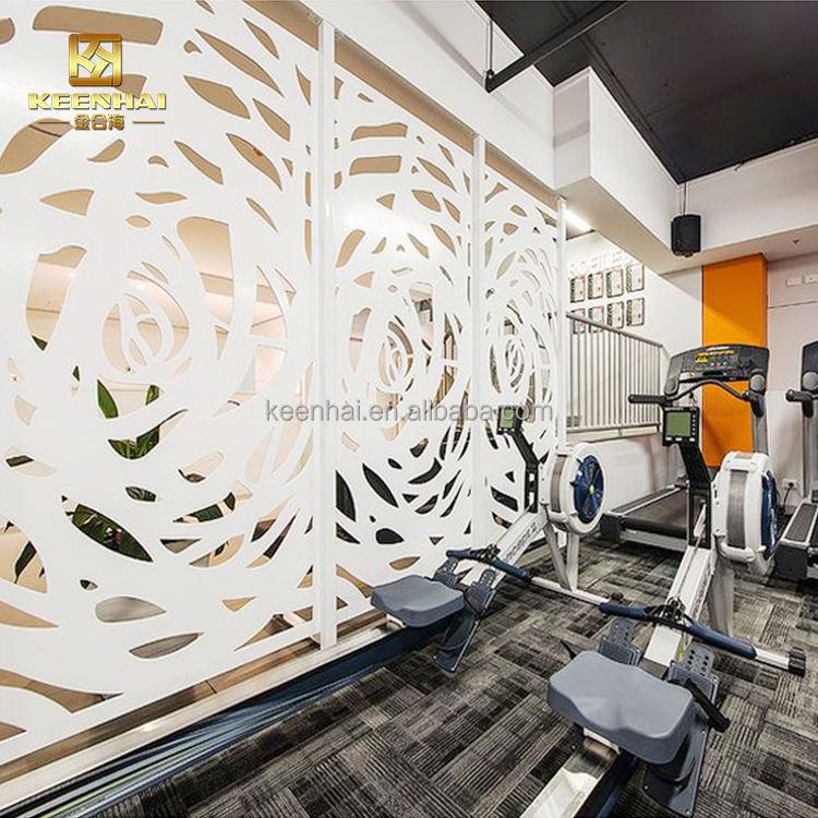 Keenhai interior al por mayor al aire libre partición láser al aire libre tallado de aluminio decorativo de metal perforado