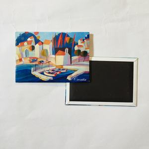 custom prague Tourist souvenir 3D Wood Tinplate metal fridge magnets