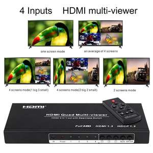 Hdmi 4x1 quad bildschirm splitter/multiviewer