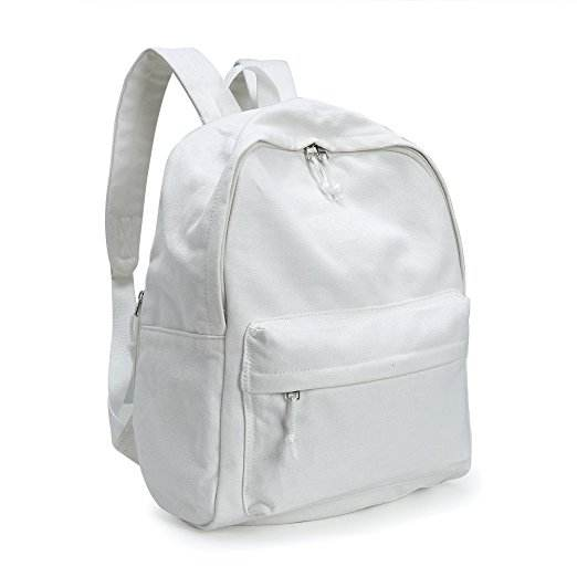 Handmade bag white canvas backpacks wholesale dropship,White Woman Fashion backpack Canvas,Plain Canvas Backpack Bag rucksack