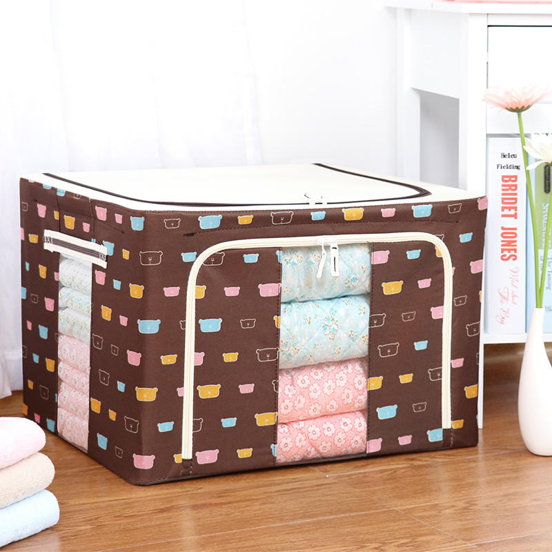 Oxford Fabric Folding EVA Living Home Zipper Storage Box Quilt Clothing Blanket Pillow Shoe Box Storage