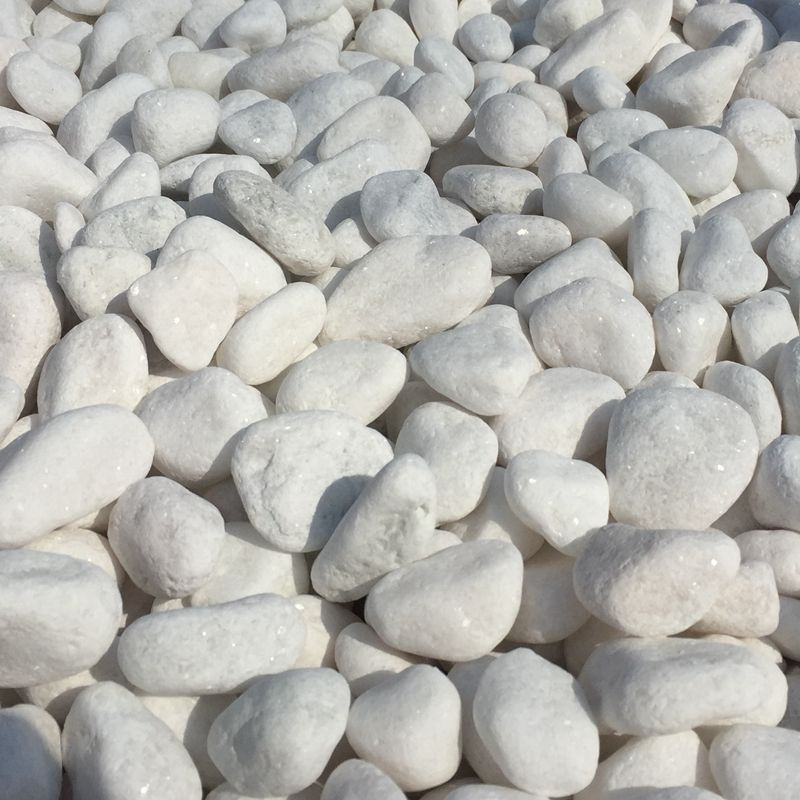 landscaping stone tumbled white snow stone pebbles