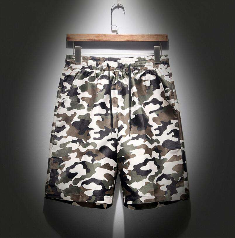 PJ1329A big size floral quick-drying summer short for men