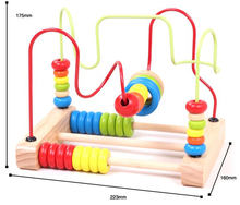 STEAM Kids Brain Development Educational Game Toys Wooden Bead Maze Toy Racking Wooden Beads Roller