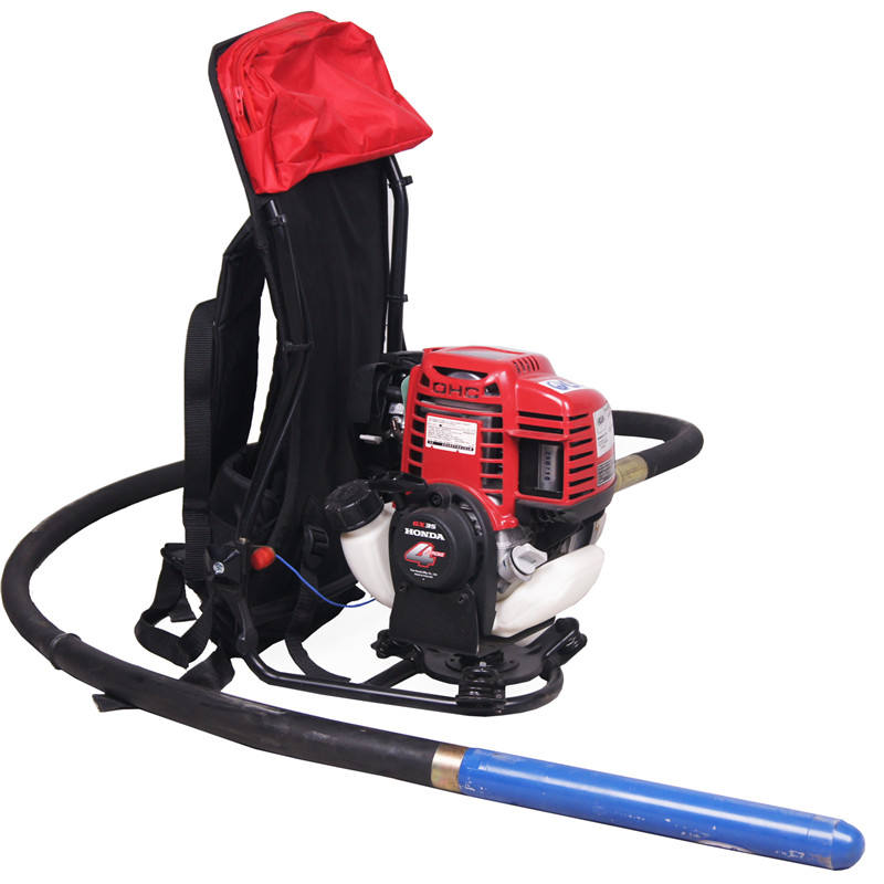Gasoline concrete vibrator backpack small concrete vibrator for sale