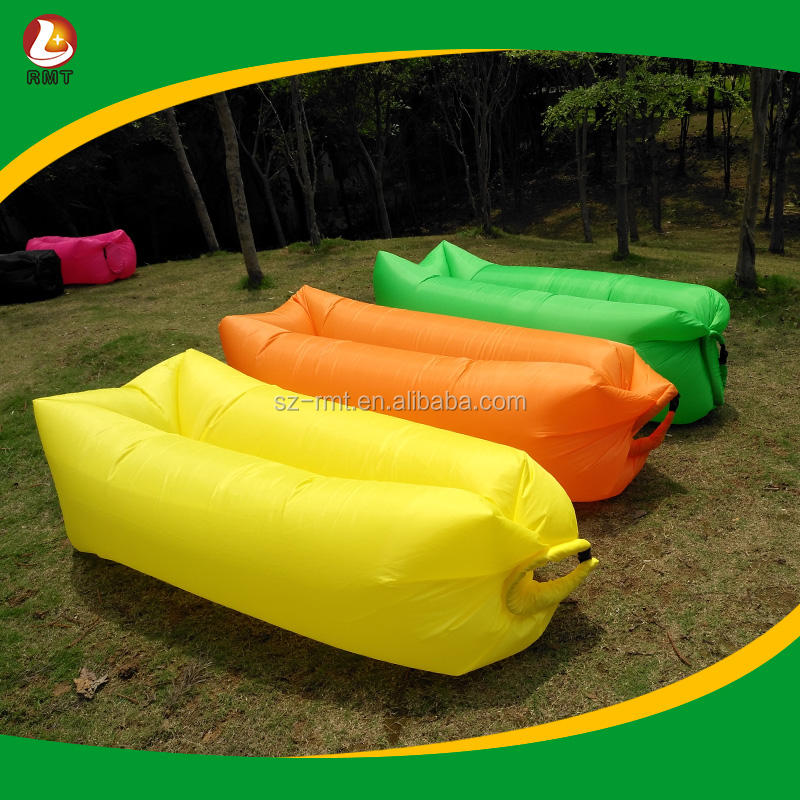 Fast inflatable air lounge sofa banana sleeping bag lazy air bed