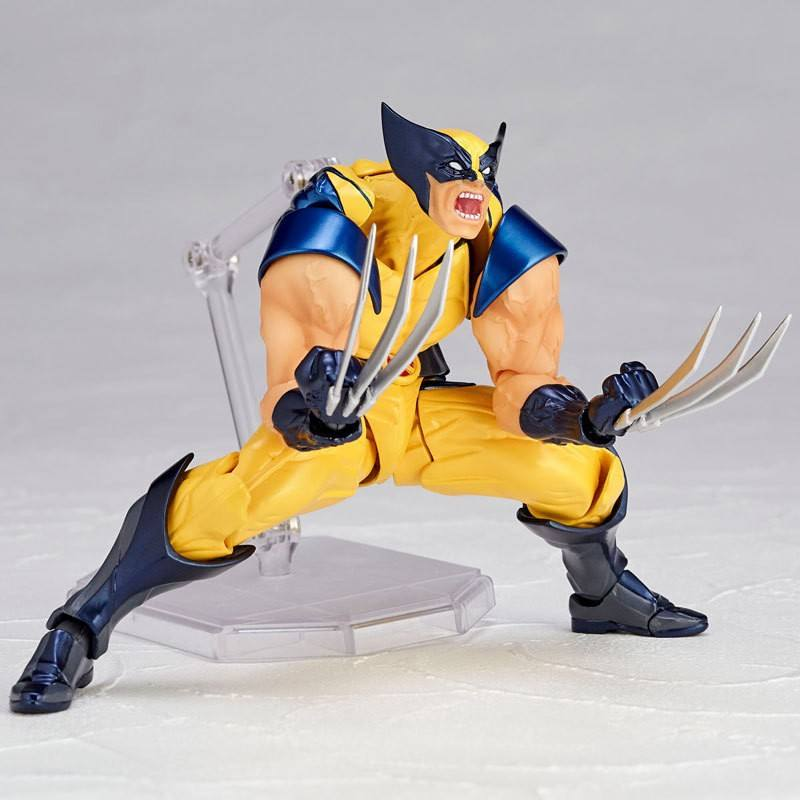 X man supper hero collection action figure yellow wolf X man action figure