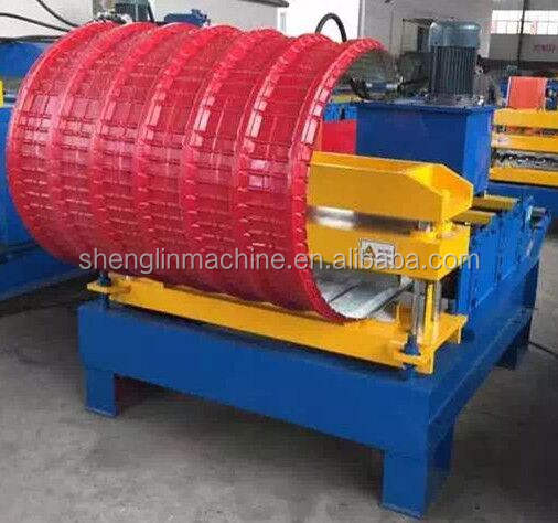 Auto crimping curved roll forming machine/ roof sheet crimping machine/arch machine