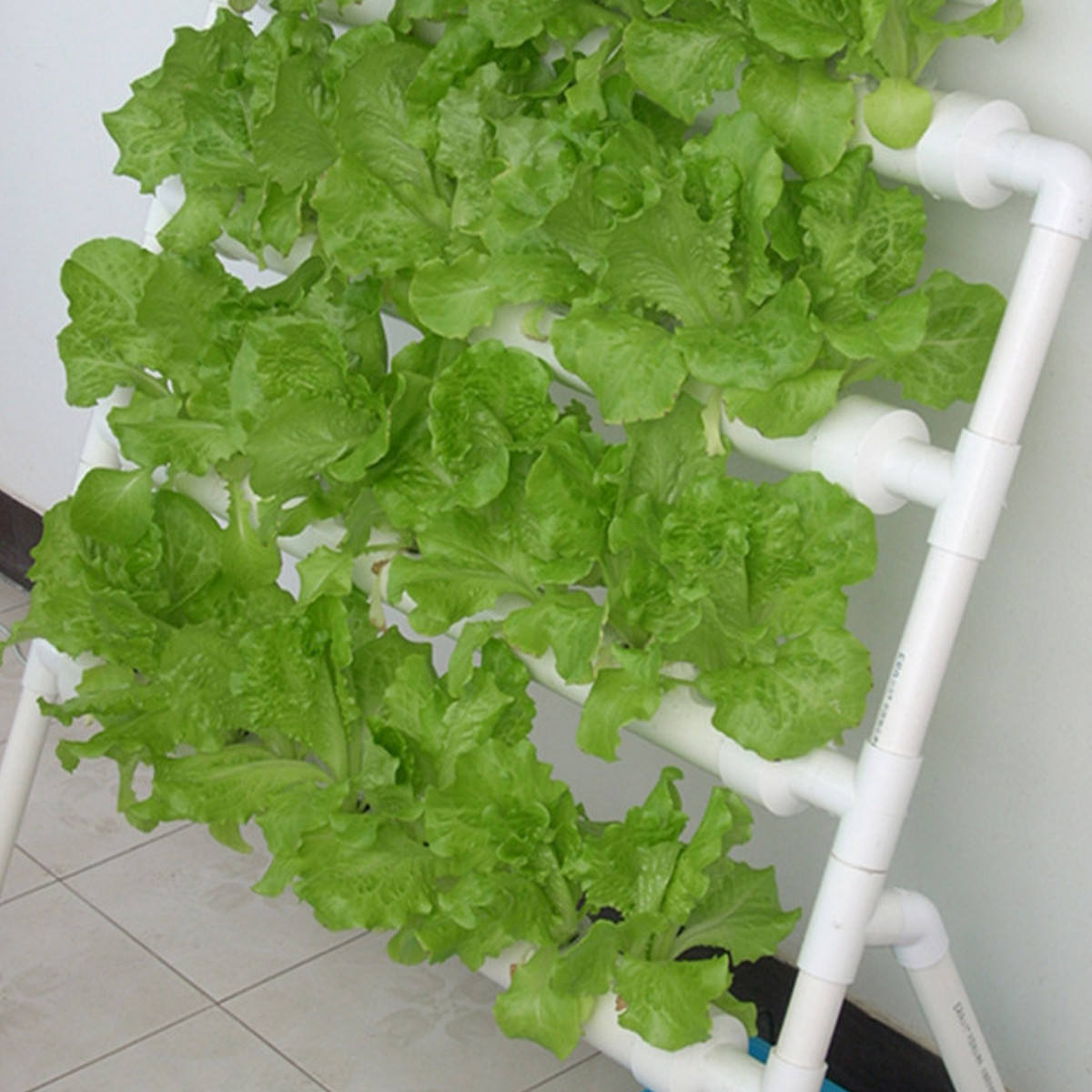 Hydroponics Nft System with 36/108 Holes Kits,Vertical Hydroponic Growing Systems PVC Tube Plant Vegetable