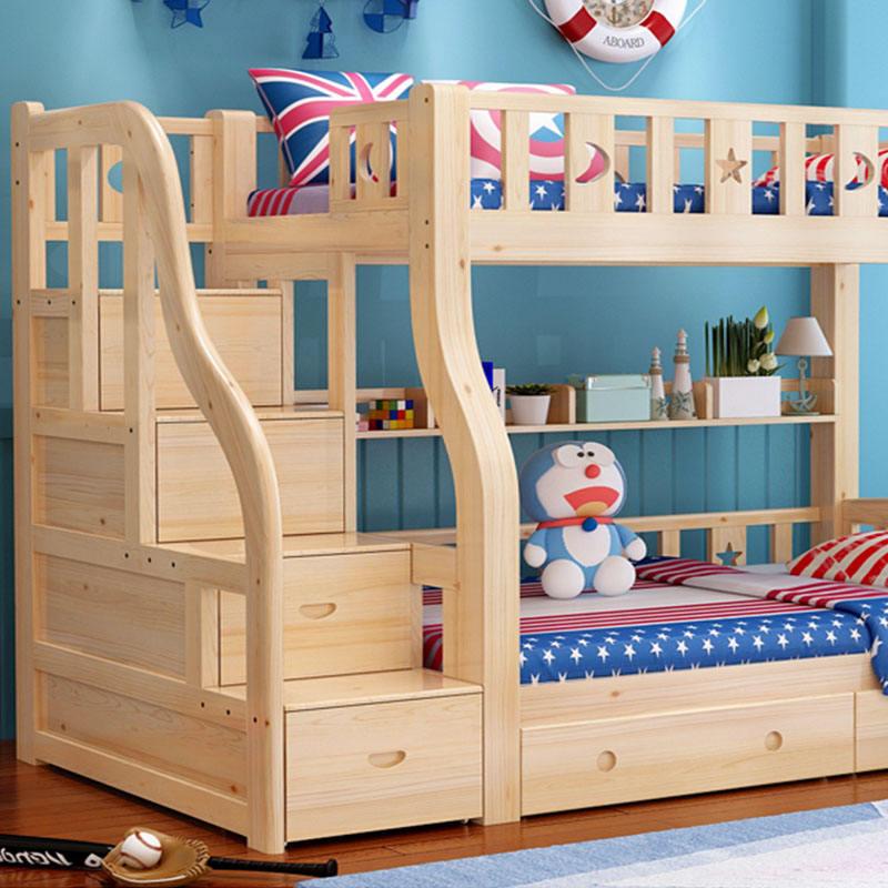 عالية الجودة خشب الزان مزدوجة ديكر السرير