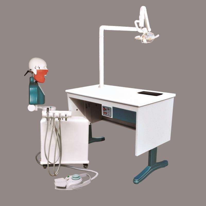 dental lab technician table used dental workstation with micromotor link steel tap