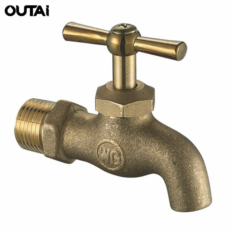 Cheap outdoor corrosion-resistant brass tap garden water polo hose bibcock taps with lock