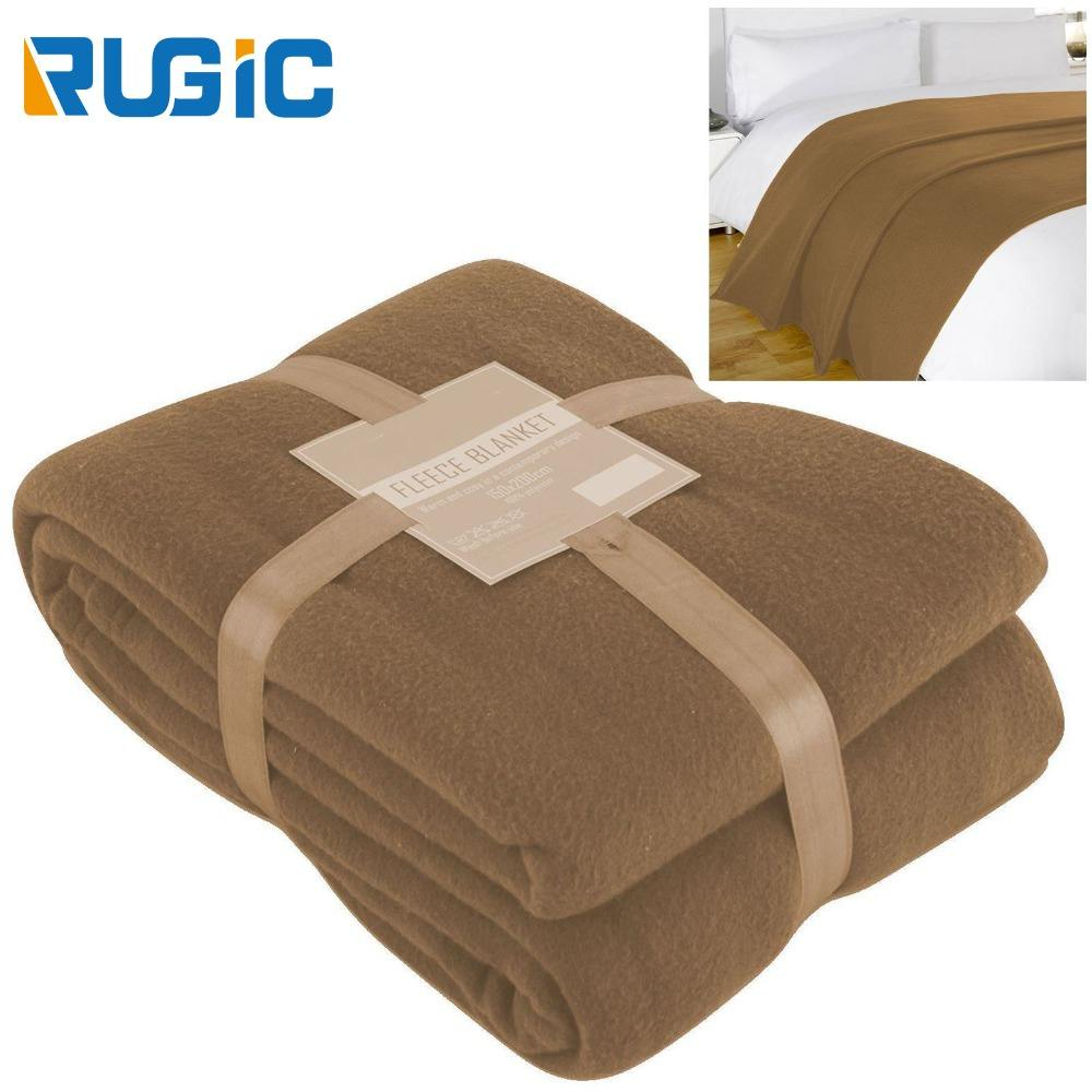 Cheap Luxury Solid Color Super Soft Warm Cuddly Cover Home Hotel Bedding Sofa Plain Thick Throw Polar Fleece Blanket