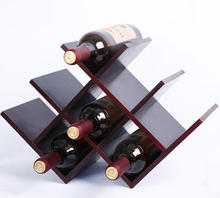 Household storage red wine wooden display rack