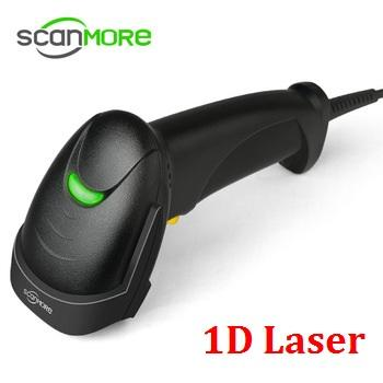 Black Interface RS232 Handhold 1D Laser USB Barcode Scanner