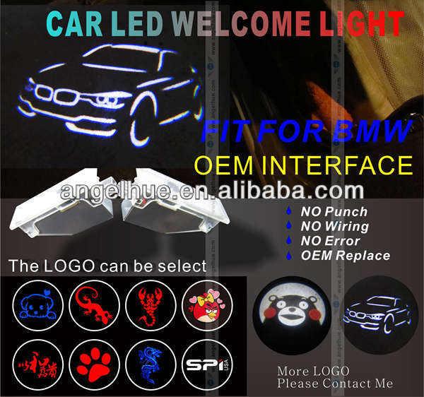 Led logo/cree led ışık/lazer logo oem değiştirme kiti bmw