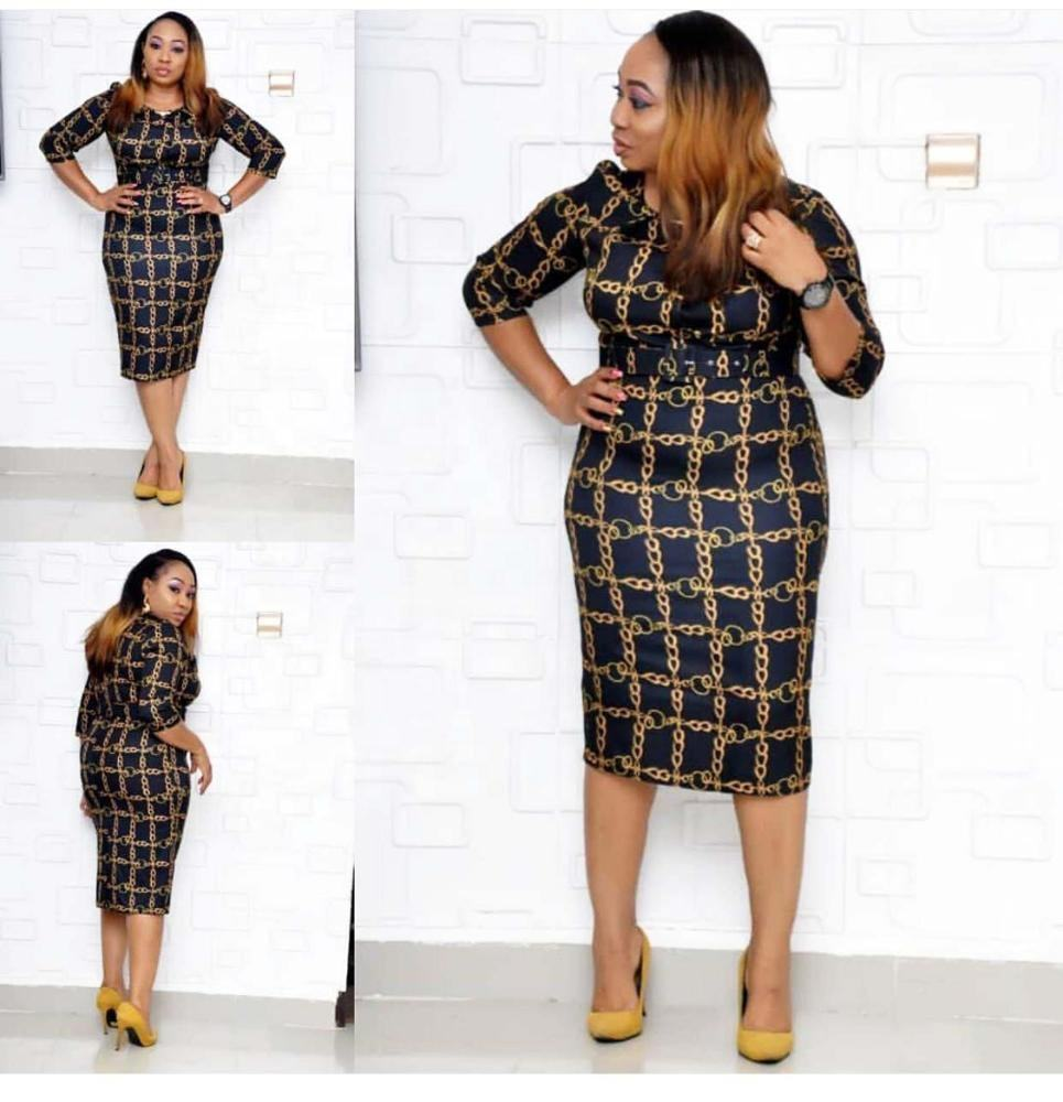 Plus size Digital printing dress African bodycon dress