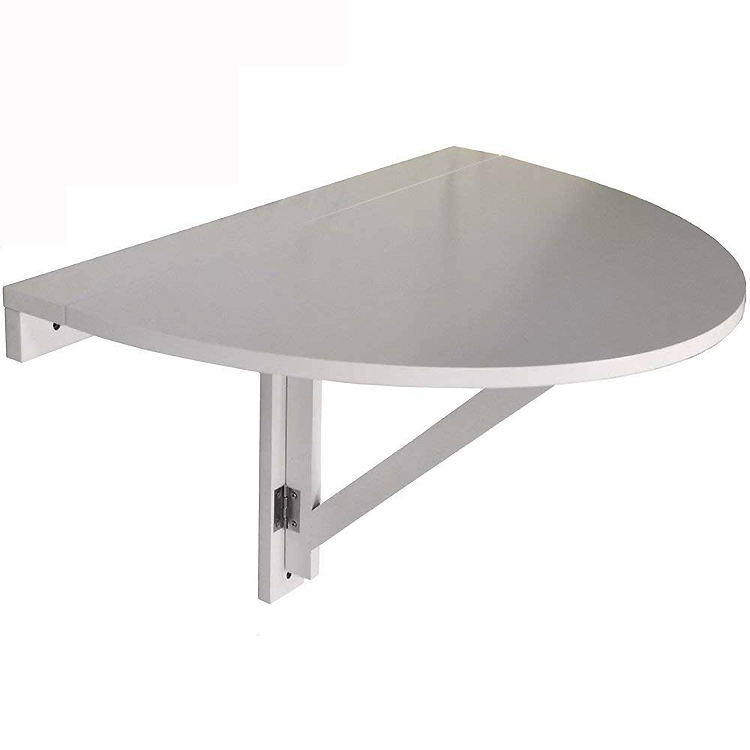White Folding Table / Folding Fallen Leaf Wall Mounted Semicircular Table
