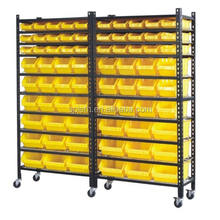 Cheap price light duty custom design plastic storage bin racks spare parts shelving