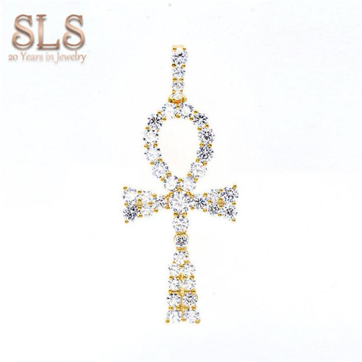 Хип-хоп стиль Модные Гуанчжоу ювелирном рынке оптовая продажа изысканные украшения из золота ice Египетский Анкх кулон