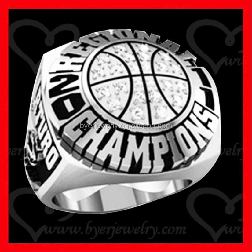 Fashion basketball custom championship rings soccer ball champions ring wholesale cheap championship rings