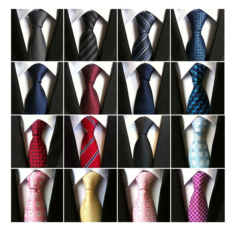 Wholesale Men's 100% Custom Woven Silk necktie High Quality cheap mens neck tie