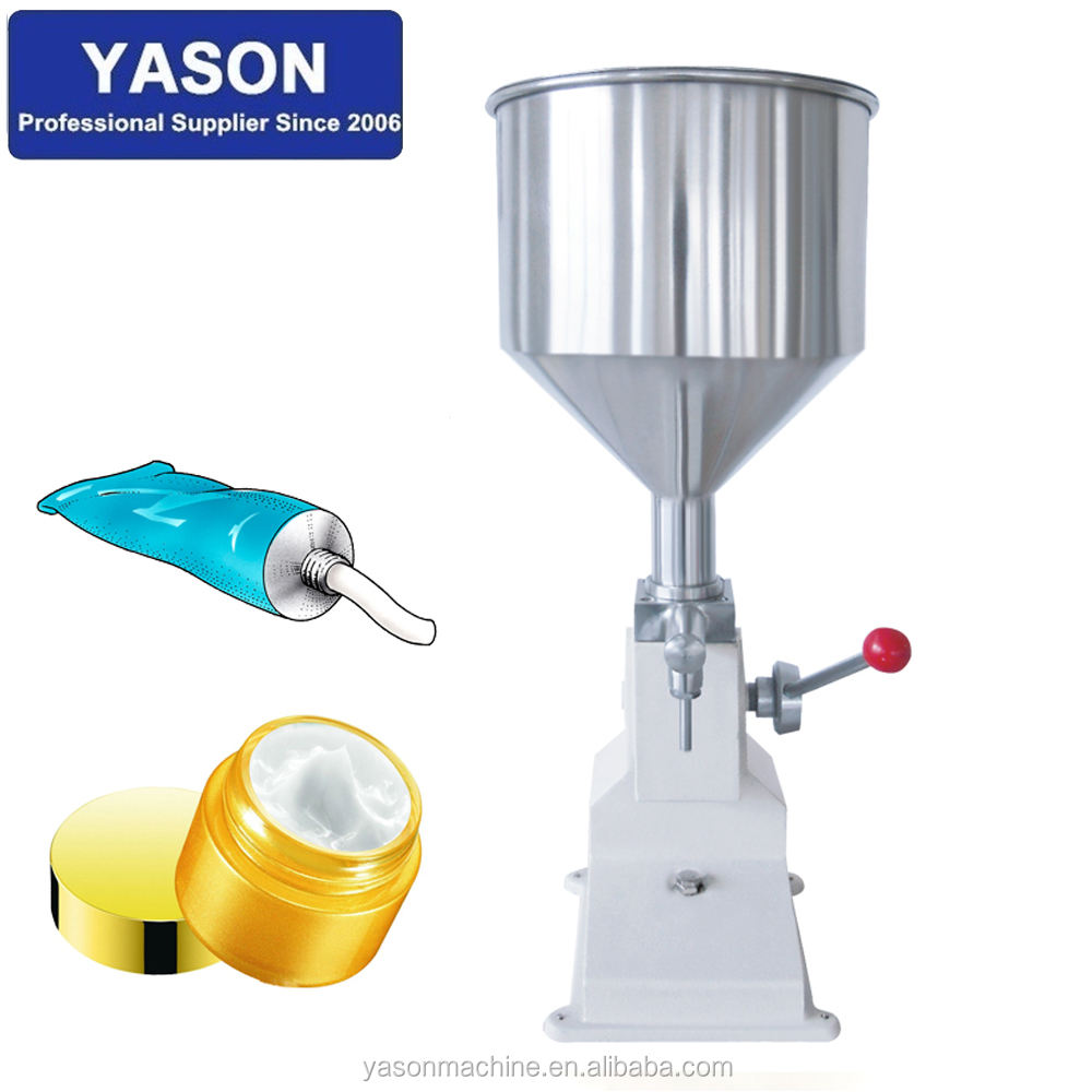 Small Manual Liquid Cosmetic Cream Paste Lotion Jar Filling Machine For Toothpaste,Shampoo,Body