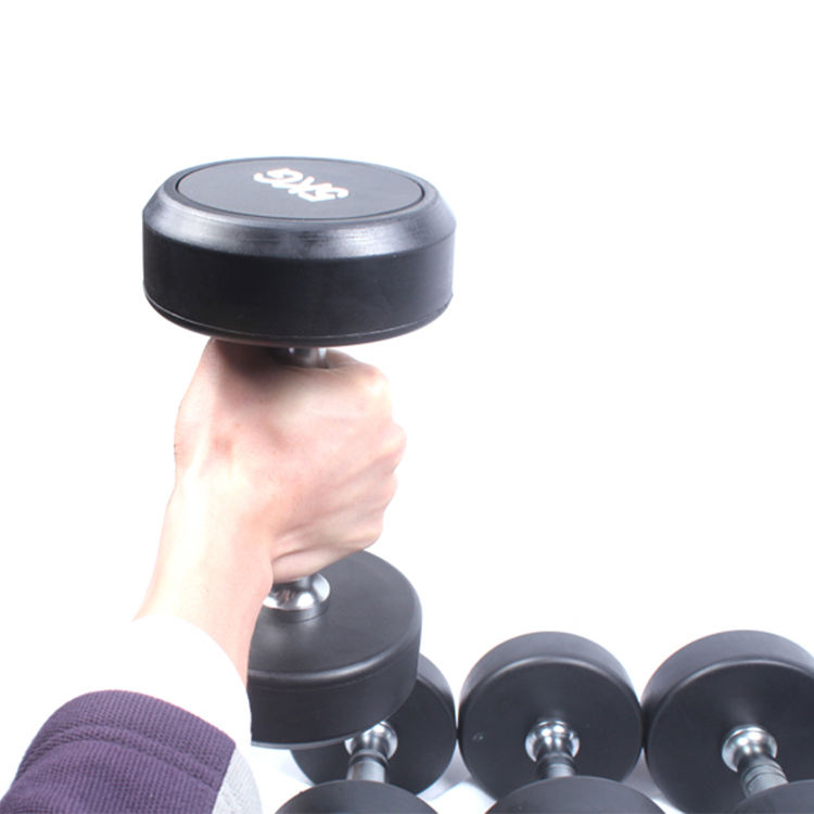 Wholesale Round Rubber Dumbbell Set dumbbell with Customize Logo