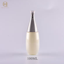 Luxury gradient gold empty glass bottle cosmetic packaging with shining gold pump