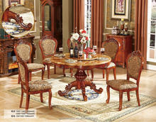 Round marble top dining table with rotating centre NG5631&NG2885