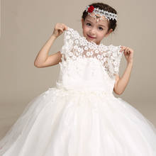 wedding dress 2019 children long frock design white princess dresses for kid cloing party wear frock flower girl dresses