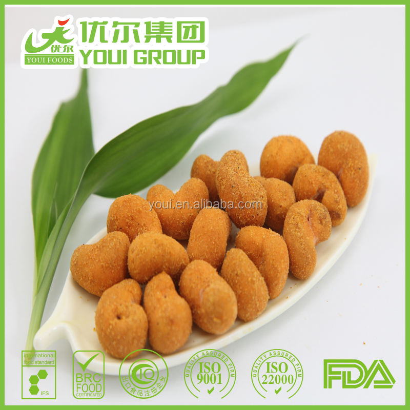 Roasted Coated BBQ flavor cashews, Cashew nuts